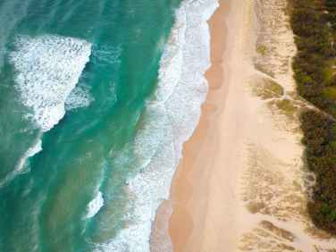 top view photo of beach