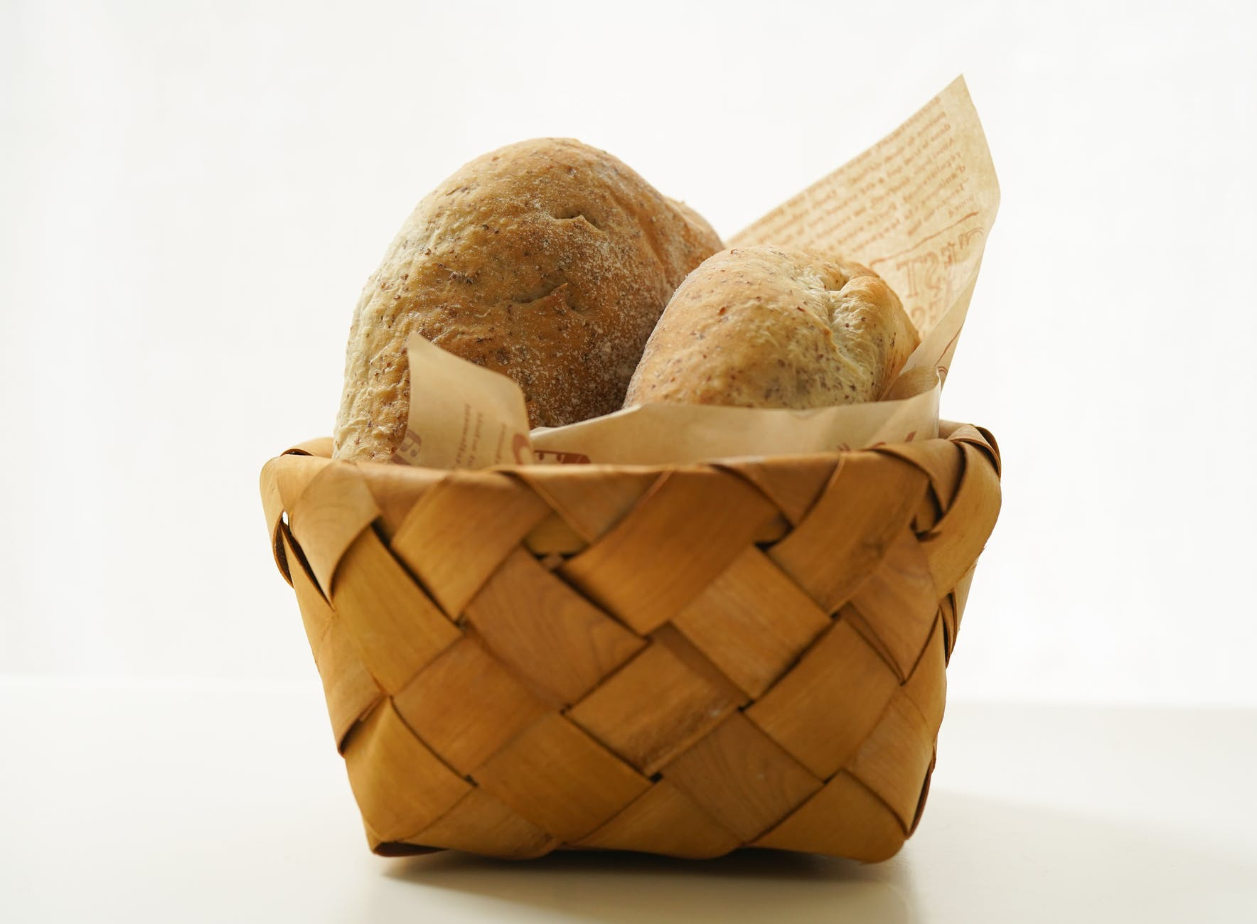close up photo of baked bread platter