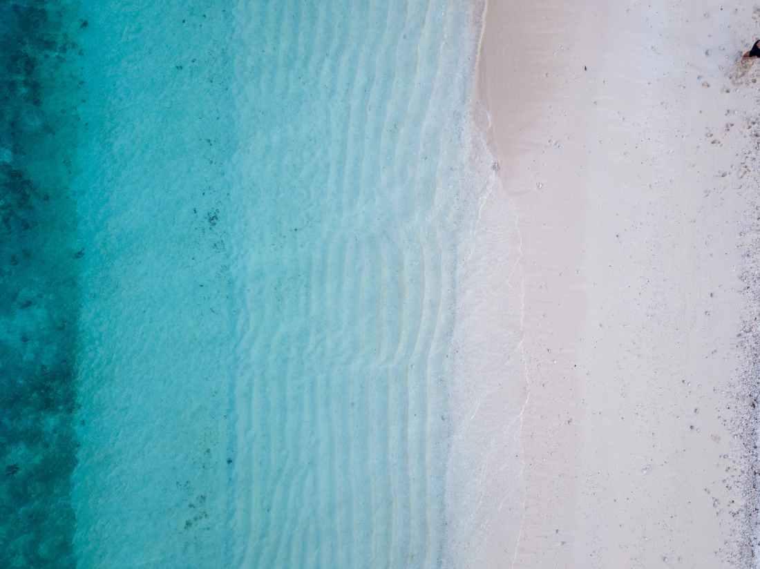 high angle photography of seashore